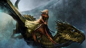 Preview wallpaper a song of ice and fire roleplaying, queen alysanne, game of thrones, dragon, girl, cold, flight, city