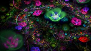 Preview wallpaper abstraction, bloom, bright, flower, fractal
