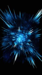 Preview wallpaper abstraction, blue, lines, explosion, dark