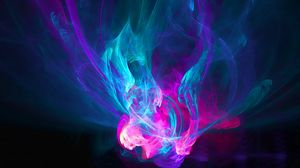 Preview wallpaper abstraction, light, pink, blue, purple, patterns