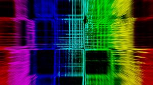 Preview wallpaper abstraction, optical illusion, different colors, squares, approximation