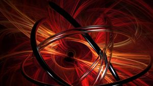 Preview wallpaper abstraction, spirals, orange, ring