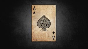 Preview wallpaper ace, card, paper, games, old