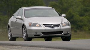 Preview wallpaper acura, rsx, gray metallic, front view, style, cars, asphalt, trees