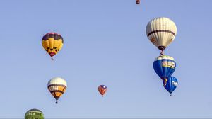 Preview wallpaper air balloons, sky, flying