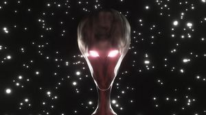 Preview wallpaper alien, humanoid, face, glow, stars