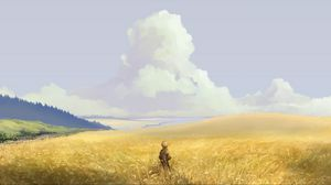 Preview wallpaper alone, art, field, sky