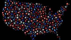 Preview wallpaper america, usa, map, stars, vector