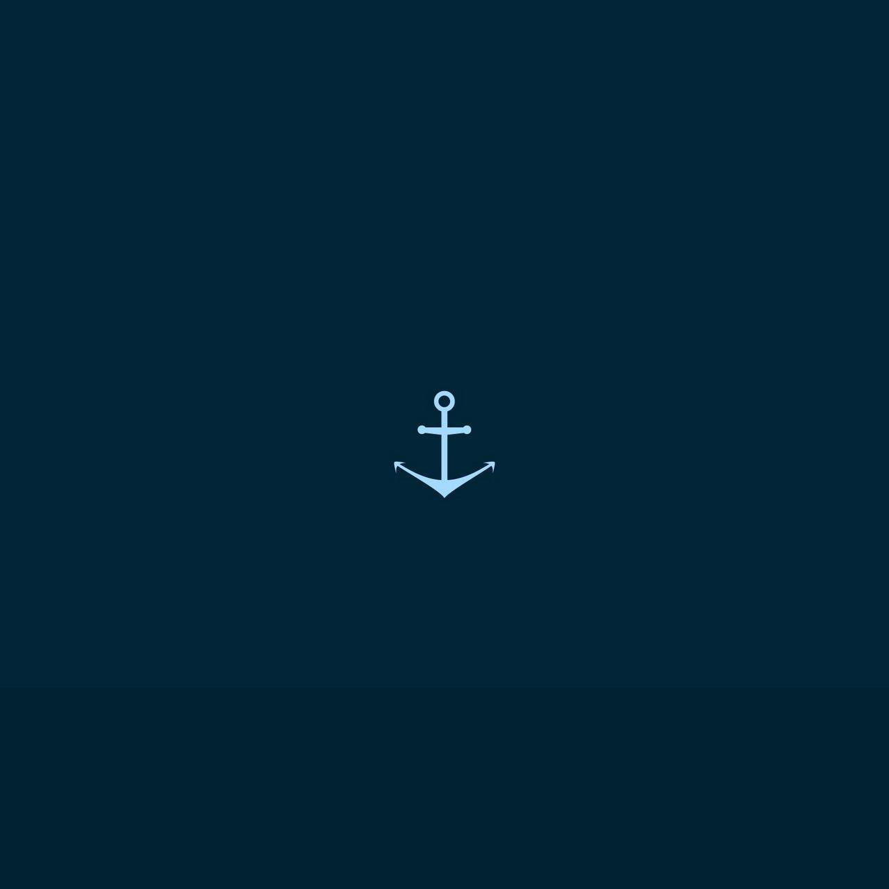 1280x1280 Wallpaper anchor, drawing, vector, dark
