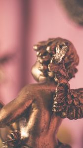 Preview wallpaper angel, gold, wings, figurine