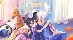 Preview wallpaper anime, friends, kids, food