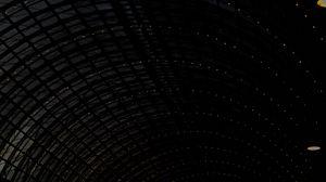 Preview wallpaper arch, dark, black, garlands, darkness