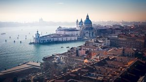 Preview wallpaper architecture, aerial view, river, canal, venice, italy