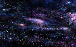 Preview wallpaper art, star, tree, sky, space