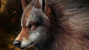 Preview wallpaper art, wolf, graphics, wool