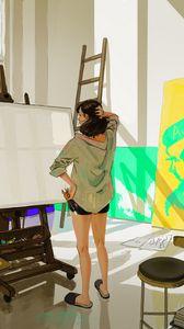 Preview wallpaper artist, canvas, brushes, creativity, anime, art