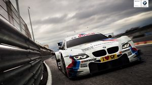 Preview wallpaper asphalt, car, race car, dtm, bmw, racing, hankook, motor racing