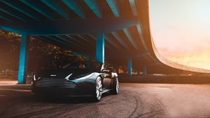 Preview wallpaper aston martin, car, luxury, bridge