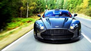 Preview wallpaper aston martin, vanquish, 2015, front view, movement