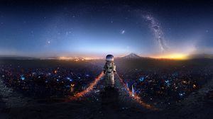 Preview wallpaper astronaut, art, space, stars, galaxy