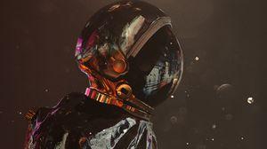 Preview wallpaper astronaut, cosmonaut, spacesuit, glare, art