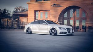 Preview wallpaper audi, a7, vossen, tuning, wheels