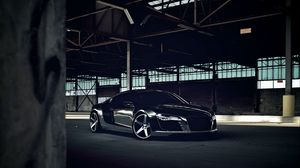 Preview wallpaper audi, r8, chrome, black, cw-5, matte black
