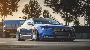 Preview wallpaper audi, s5, tuning, wheels, side view
