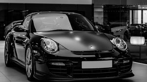 Preview wallpaper auto, black, headlight, bw
