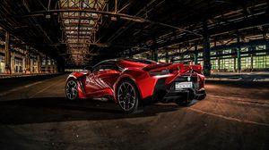Preview wallpaper auto, sports car, red, aggressive, dark