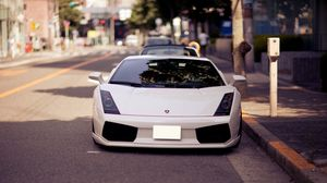 Preview wallpaper auto, white, sports car, lamborghini