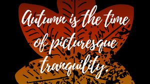 Preview wallpaper autumn, tranquility, quote, inscription, leaf
