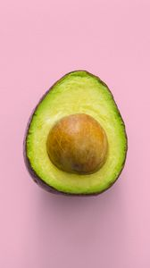 Preview wallpaper avocado, minimalism, pink