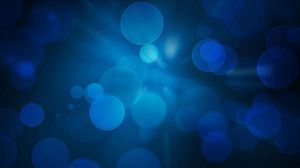Preview wallpaper background, drops, light, circles, blue