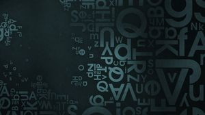 Preview wallpaper background, texture, surface, dark, letters