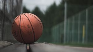 Preview wallpaper ball, basketball, bench, sport, game