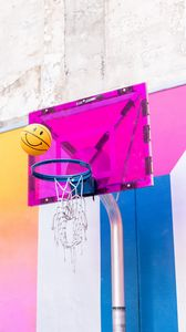 Preview wallpaper ball, basketball hoop, basketball, throw, hoop