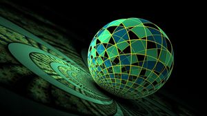 Preview wallpaper ball, glass, surface, background