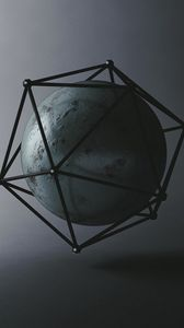 Preview wallpaper ball, icosahedron, shapes, geometry