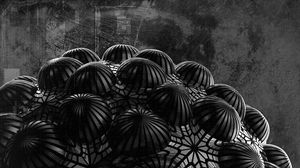Preview wallpaper ball, relief, 3d, black