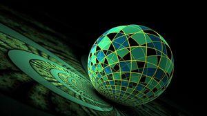 Preview wallpaper ball, surface, green