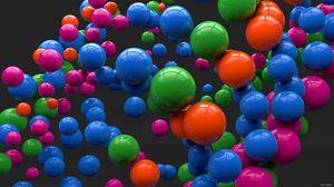 Preview wallpaper balls, colorful, bright