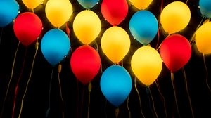 Preview wallpaper balloons, colorful, lamps, lamp