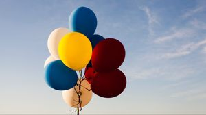 Preview wallpaper balloons, sky, colorful