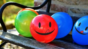 Preview wallpaper balloons, smile, smiley, colorful