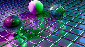 Preview wallpaper balls, cubes, shapes, glitter