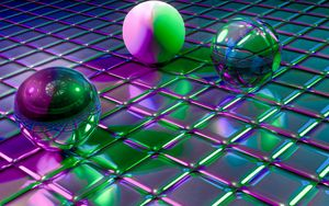 Preview Wallpaper Balls Cubes Shapes Glitter
