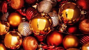 Preview wallpaper balls, decorations, new year, christmas, holiday
