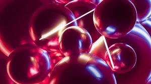 Preview wallpaper balls, neon, 3d