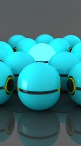 Preview wallpaper balls, rendering, modeling, blue